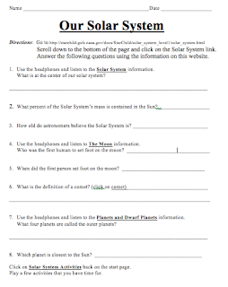 4th Grade Solar System Worksheets - Pics about space