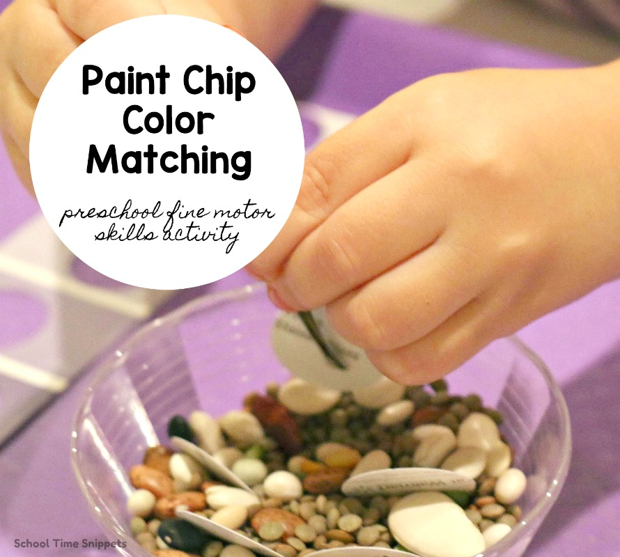 preschool color matching