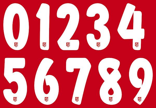 c1102bc3606ef El Atlético de Madrid estrena nueva tipografía de letras y números ...