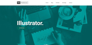 the freelancer blogger template