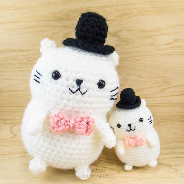 Big Cat Amigurumi : Snacksies Handicraft Corner