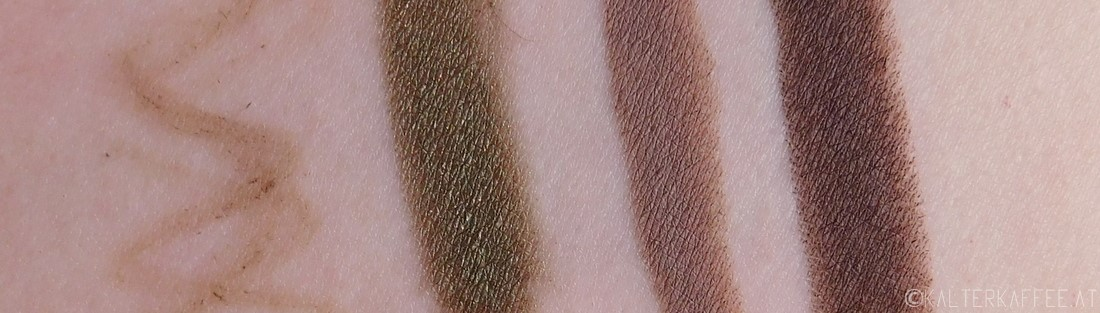 GOSH Cosmetics eye make up swatches