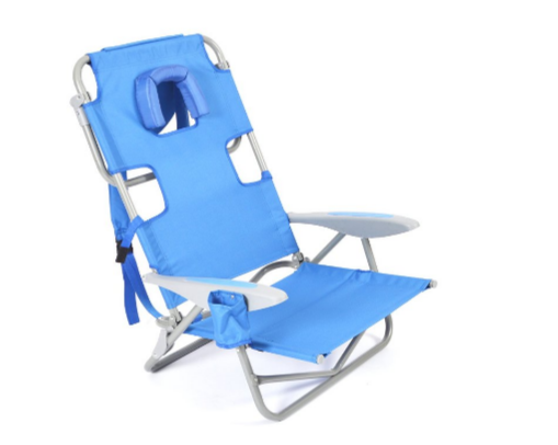 Ostrich OYB-1003B On-Your-Back Chair Blue