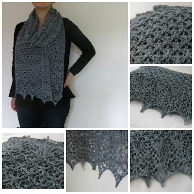beautiful lace knitting