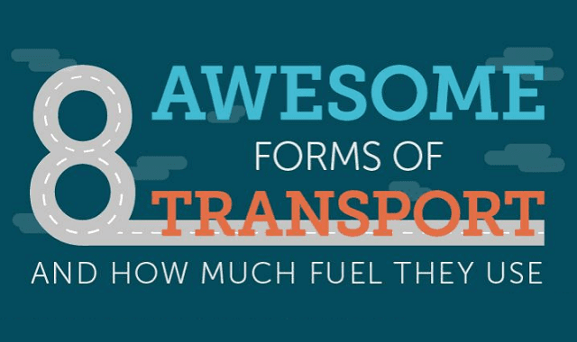Image: 8 Awesome Forms of Transport and How Much Fuel They Use