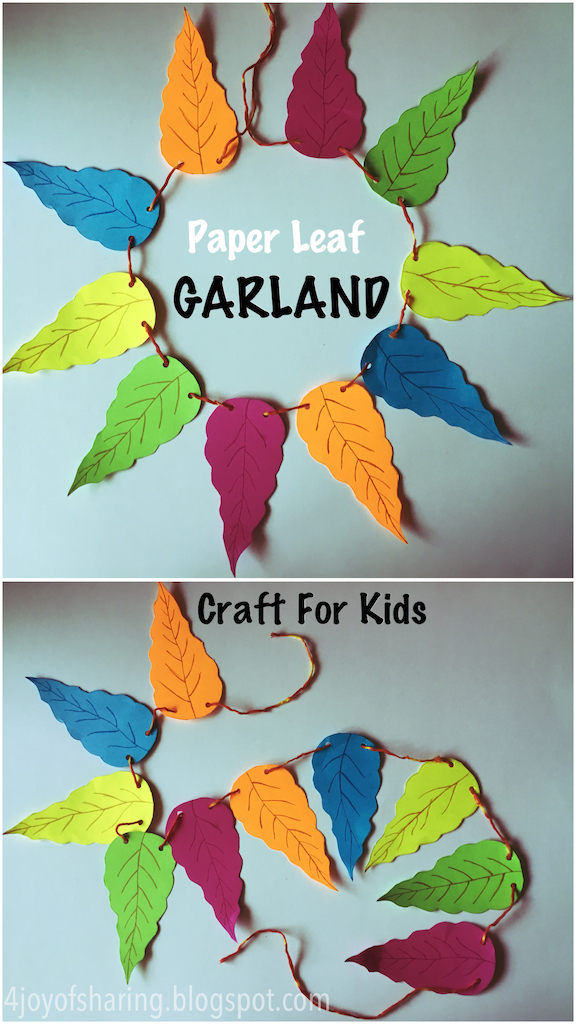 Kids craft, crafts for kids, craft ideas, kids crafts, craft ideas for kids, paper craft, art projects for kids, easy crafts for kids, fun craft for kids, kids arts and crafts, art activities for kids, kids projects, art and crafts ideas, diwali craft, deepawali craft, garland, toran craft, fall craft, leaf craft, colorful leaves