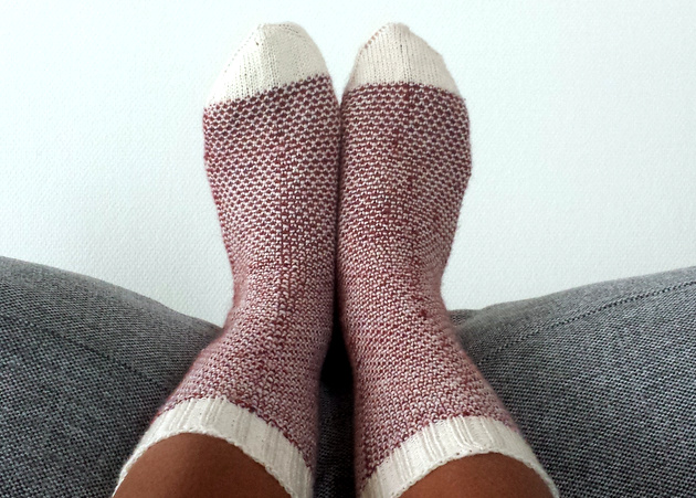 Handknit wool socks  |  Tootsie toppers on afeathery*nest  |  http://afeatherynest.com