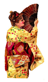 woman kimono fashion antique image digital