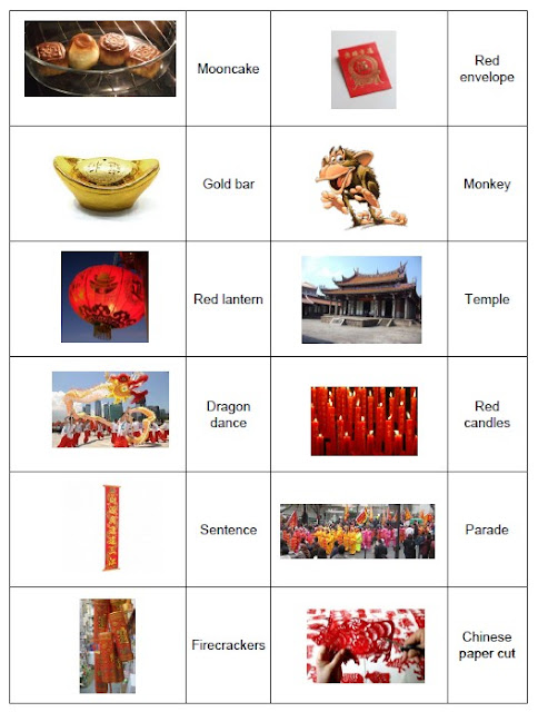 Nouvel an chinois vocabulaire