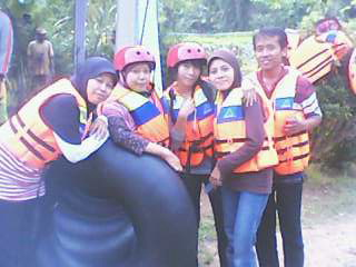 The white water rafting team