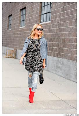 Botas y Jeans de Mujer