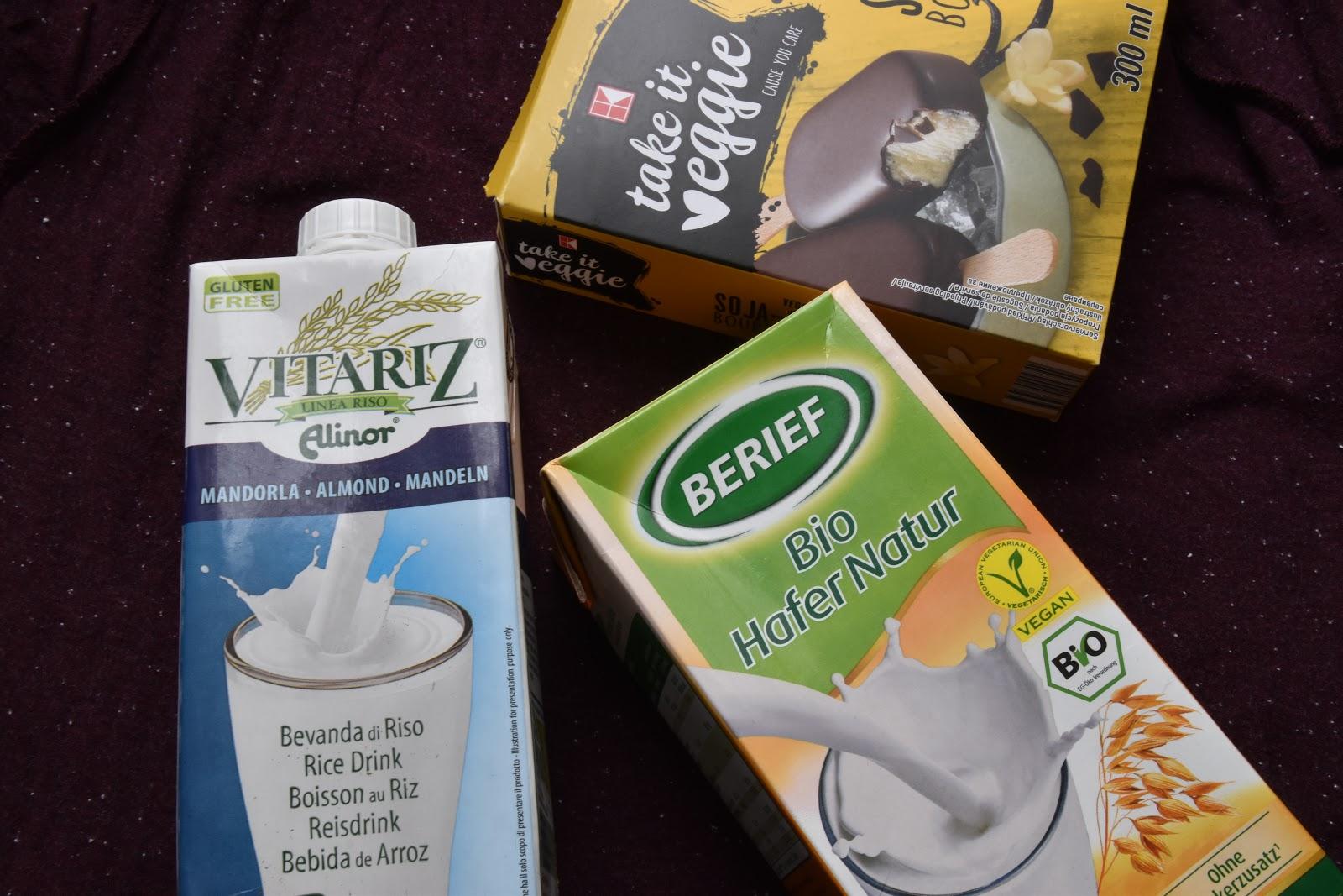 vegan rostlinná mléka