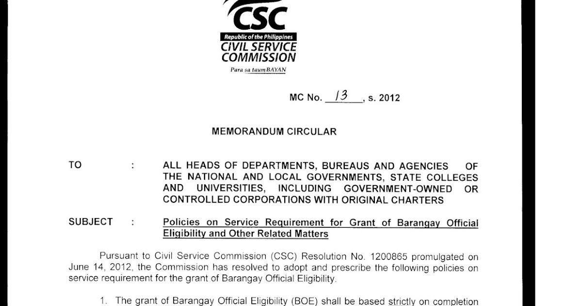 How To Get Barangay Civil Service Eligibility Boe Fastfacts