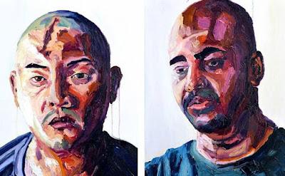 Andrew Chan, Myuran Sukumaran. Paintings by Myuran Sukumaran