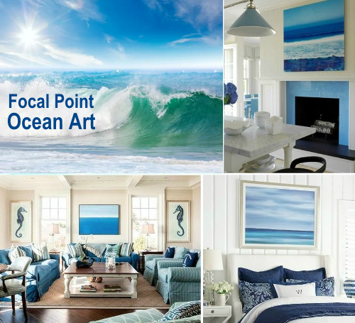 Ocean Art Prints Wall Decor Ideas Large Art Focal Point