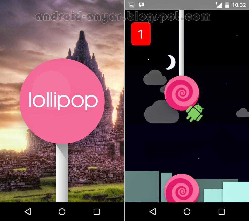 Membuka Fitur Easter Egg Lollipop Nexian Journey 1 Android One