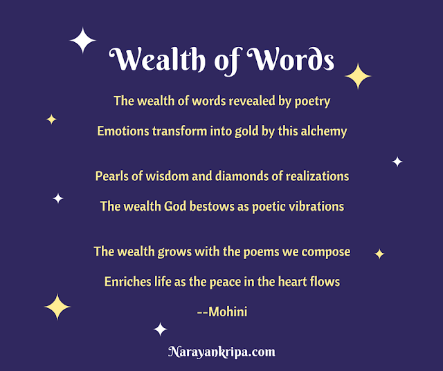 Image poster for April Poetry Month Day 12 Poem: Wealth of Words