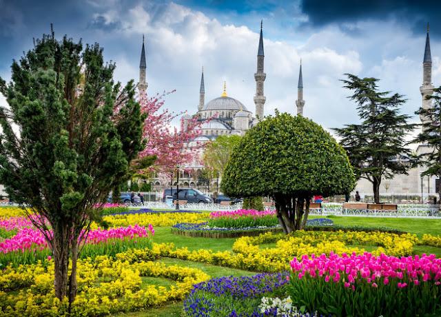 Primavera em Istambul na Turquia