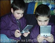 playing Game Boy