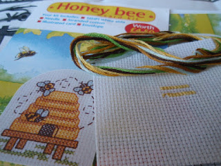 Honey Bee Cross Stitching from Cross Stitcher 1998