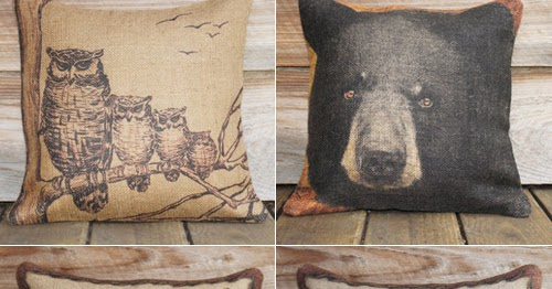 My Owl Barn The Watson Shop Burlap Pillows