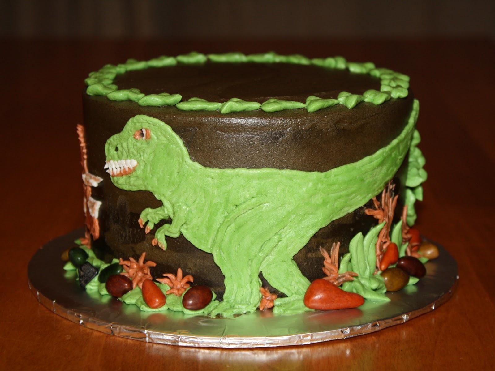 Party Cakes Dinosaur Cake And Cupcakes