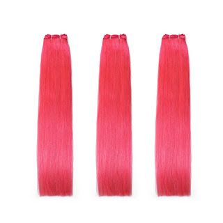 8A Premium Hair Weave Brazilian Hair Bundles Straight Hair Hot Pink Hair–Price:$44.69 /piece (10%off)