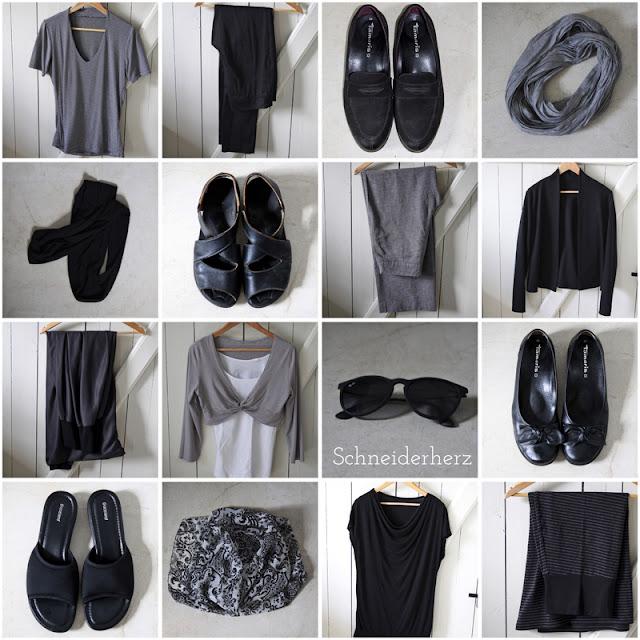 Fashion Sudoku Capsual Wardrobe Kleiderschrank Mode selbstgenäht