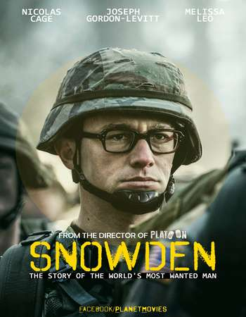Poster Of Snowden 2016 English 850MB HDCAM x264 Free Download Watch Online downloadhub.net