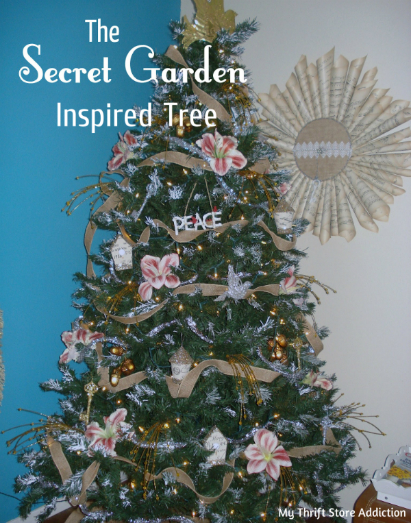 Secret Garden inspired Christmas tree