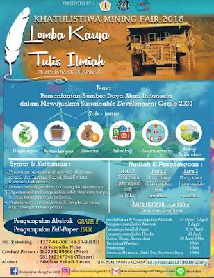 Lomba Karya Tulis Ilmiah Nasional 2018 di Universitas Tanjungpura