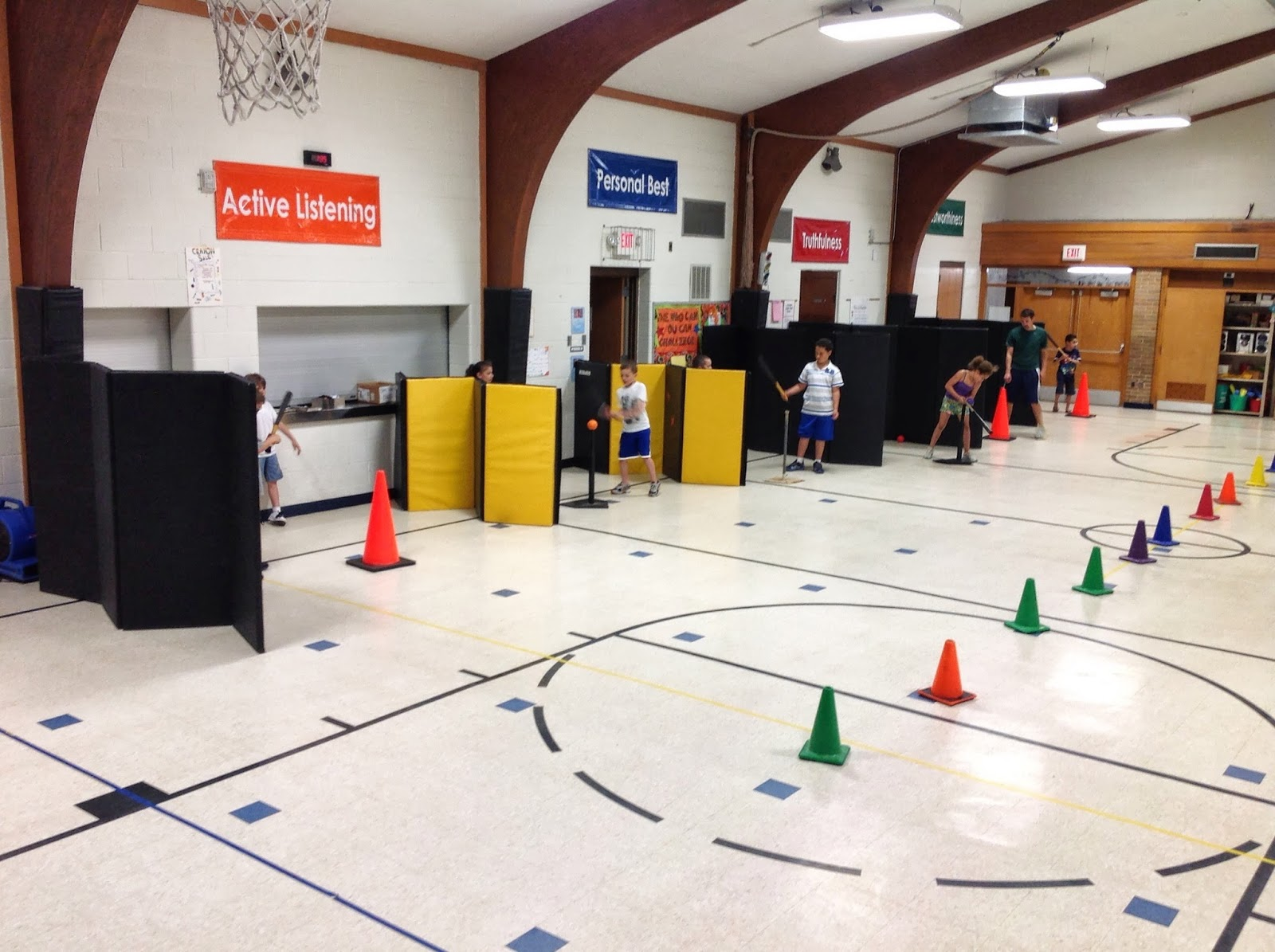 Carly s PE Games  Elementary PE Lesson  BattingTball