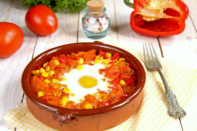 Jajko flamenco, pomysł na śniadanie, co na śniadanie,