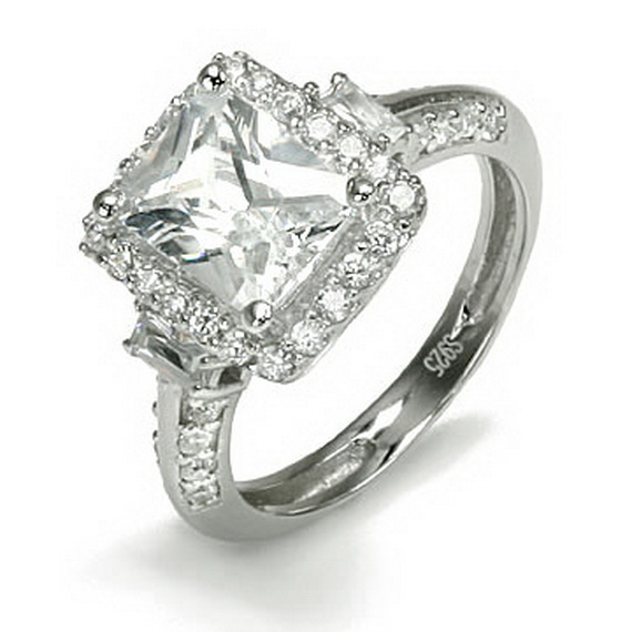Beautiful Silver Engagement Rings 2014