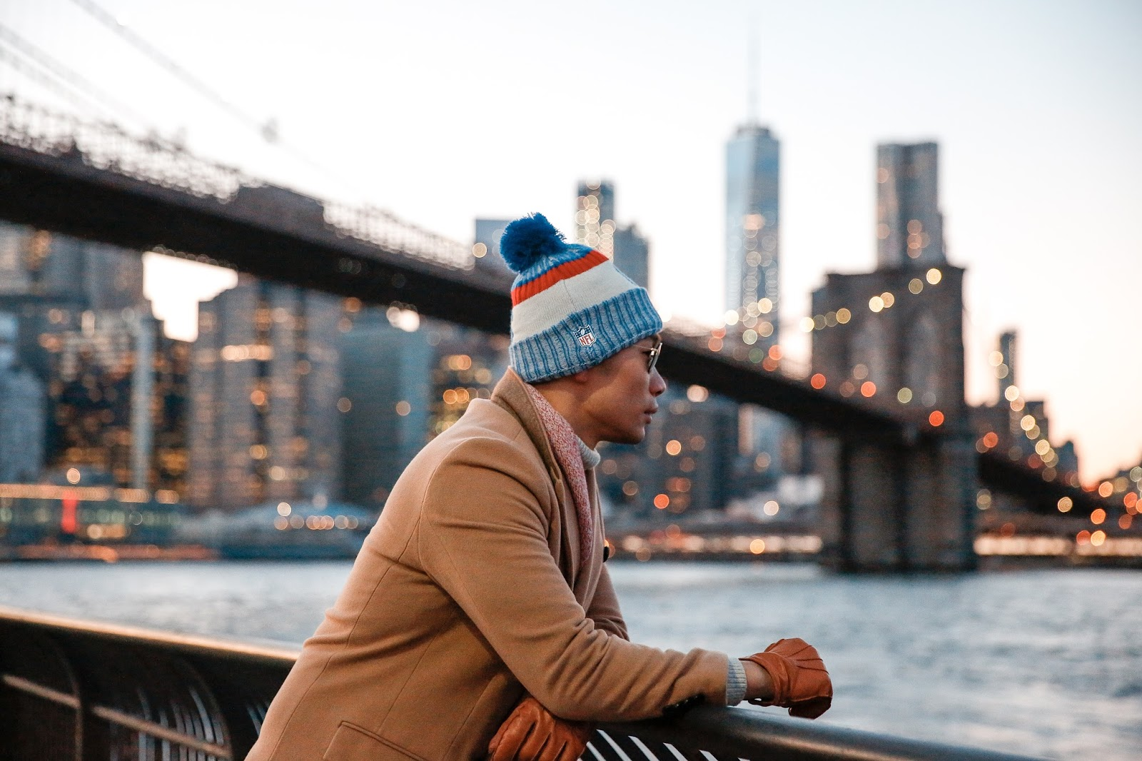 Winter Menswear Look, NFL New Era Knit Hat, Levitate Style