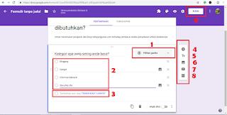 cara membuat vote di google formulir