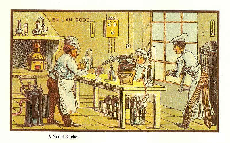 13-French-Food-Jean-Marc-Cote-En-L-An-2000-wikimedia-Futurism-with-Illustrated-Postcards-from-the-1900s-www-designstack-co