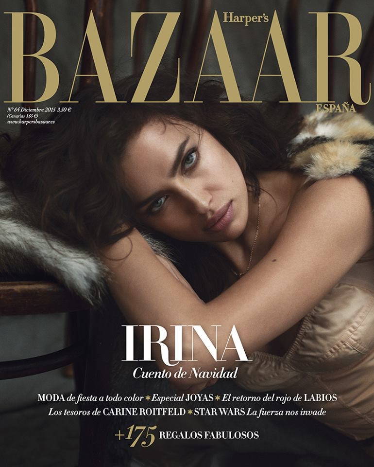 Irina Shayk seduces for Harper's Bazaar Spain December 2015