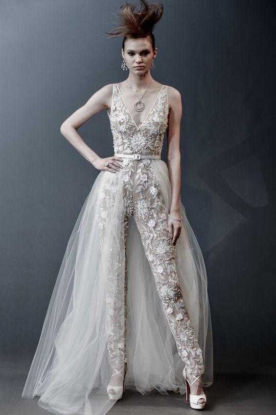Lace Combination – Gorgeous Bridal Jumpsuits Image 1