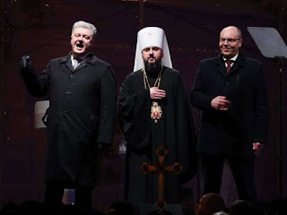 Ukraine's President names leader of new church in split from Russia