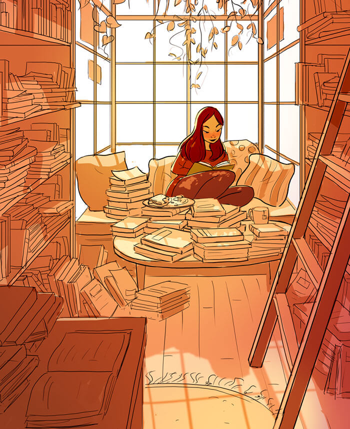 20 Beautiful Illustrations That Show What's Like To Live Alone - Escaping Reality
