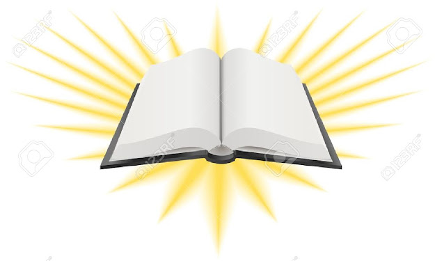 Vector Illustration Of An Open Holy Book Such As The