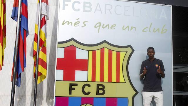Cầu thủ đắt giá thứ 2 thế giới tươi rói đến Barca 1