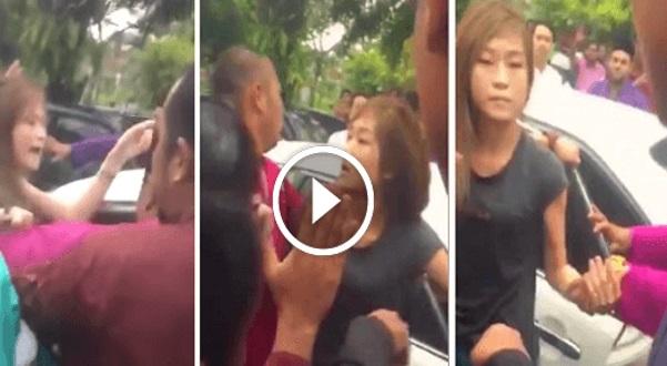 (Video) Dari Sisi Lain, Mereka Bukan Menyerang Tapi Cuba Melindungi Gadis Cina Yang Berang