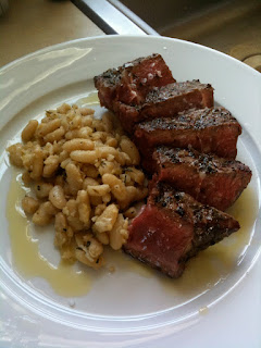 T Bone steaks with Tuscan Beans - Grilled Italian Style | Healthy Pork Recipe