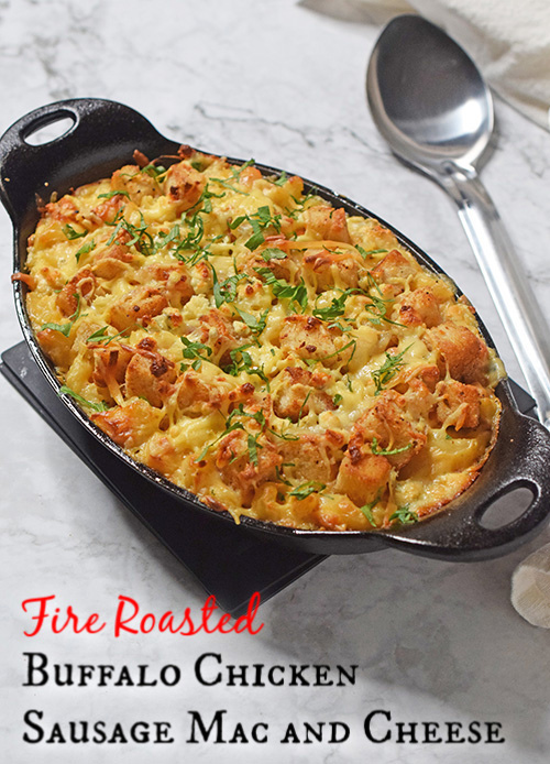 Fire Roasted Buffalo Chicken Sausage Mac and Cheese