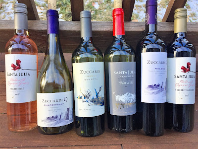 Familia Zuccardi and Santa Julia wines from Argentina