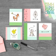CTMH Kids Craft Funny Farm Cards