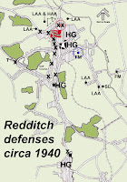 Map showing locations of defense works.