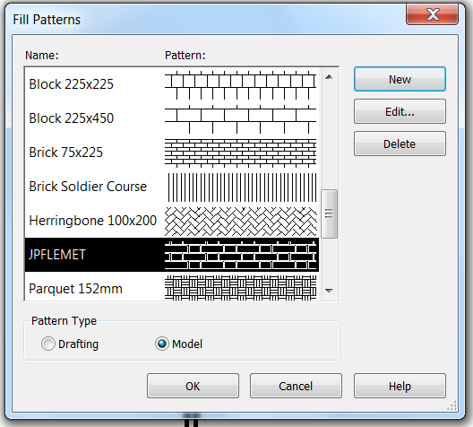 Adding A Custom Hatch Pattern To Revit 2014